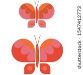 Two Retro Geometric Butterfly...