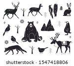 Vector Set Of Northern Animals...
