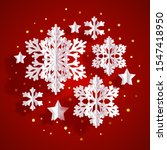 christmas greeting card with...   Shutterstock .eps vector #1547418950
