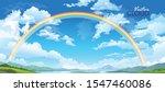 rainbow across the landscape... | Shutterstock .eps vector #1547460086