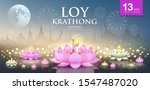 loy krathong festival thailand... | Shutterstock .eps vector #1547487020