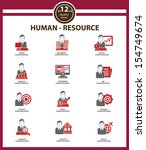human resource icons red... | Shutterstock .eps vector #154749674