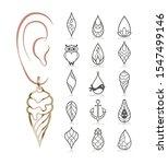 15 Earring Templates. Cutout...