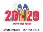 happy new year business 2020... | Shutterstock .eps vector #1547557916