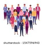 modern business team. vector... | Shutterstock .eps vector #1547596943