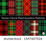set tartan plaid scottish... | Shutterstock .eps vector #1547607026
