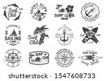 Set Of Sailing Camp  Yacht Clu...