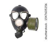 Gas Mask Isolated On White...