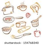 colorful breakfast design... | Shutterstock .eps vector #154768340