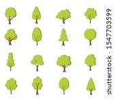 flat forest tree icon. variety... | Shutterstock .eps vector #1547703599