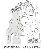 beautiful flower girl picture...   Shutterstock . vector #1547711960