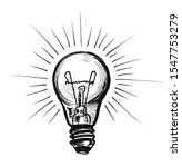 shining electric bulb. ink... | Shutterstock . vector #1547753279
