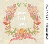 vector autumn colorful wreath...   Shutterstock .eps vector #154776740