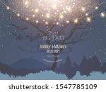 night christmas garden full of... | Shutterstock .eps vector #1547785109