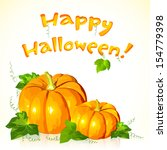 big halloween vector pumpkins... | Shutterstock .eps vector #154779398