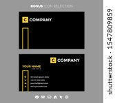 business card gold black color...   Shutterstock .eps vector #1547809859