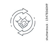 long term cooperation. vector...   Shutterstock .eps vector #1547836049