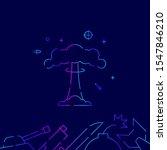nuclear explosion  mushroom...