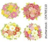 flower set | Shutterstock . vector #154785110