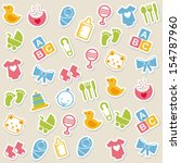 baby icons over beige background vector illustration