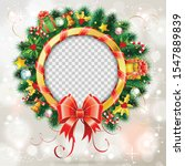decorative christmas wreath... | Shutterstock .eps vector #1547889839