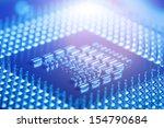 circuit board of laptop cpu | Shutterstock . vector #154790684