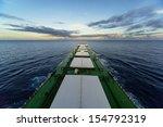 Ship Underway Viewed From Bridge
