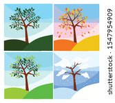 tree season set illustration... | Shutterstock .eps vector #1547954909