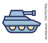 armed force tank isolated... | Shutterstock .eps vector #1547957906