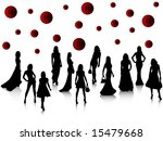 fashion silhouettes | Shutterstock .eps vector #15479668