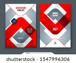 red annual report design. a4...   Shutterstock .eps vector #1547996306