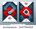dark red brochure design. a4...   Shutterstock .eps vector #1547996309