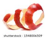 Red Apple Peel Isolated On...