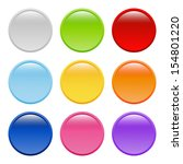 bright round buttons  raster... | Shutterstock . vector #154801220