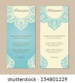 beautiful blue vintage... | Shutterstock .eps vector #154801229