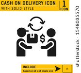 cash on delivery icon with...