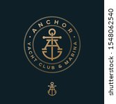 a monogram. anchor logotype.... | Shutterstock .eps vector #1548062540
