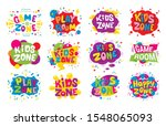kids zone emblem colorful... | Shutterstock .eps vector #1548065093
