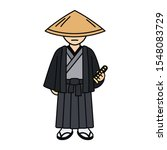 cartoon samurai character... | Shutterstock . vector #1548083729