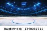 Ice Hockey Rink And Illuminated ...