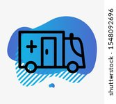 ambulance icon isolated on... | Shutterstock . vector #1548092696