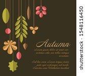 autumn dark abstract floral... | Shutterstock .eps vector #1548116450
