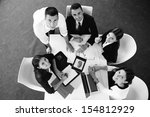 group of happy young  business...   Shutterstock . vector #154812929