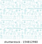 christmas icons doodle seamless ... | Shutterstock .eps vector #154812980