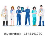 men and women doctors  surgeon... | Shutterstock .eps vector #1548141770