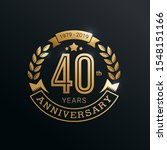 40 years anniversary badge with ... | Shutterstock .eps vector #1548151166