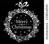 vintage christmas card.... | Shutterstock .eps vector #154816034