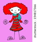 beautiful woman cartoon in... | Shutterstock . vector #154817366