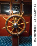 Old Boat  Steering Wheel From...