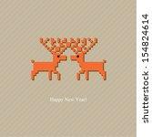 the pair of deers. greeting... | Shutterstock .eps vector #154824614